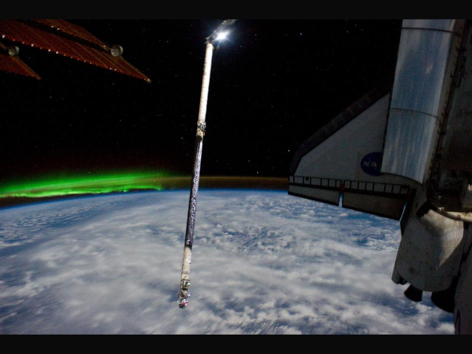 Shuttle Heads Home for the Last Time, Bidding Farewell to International Space Station