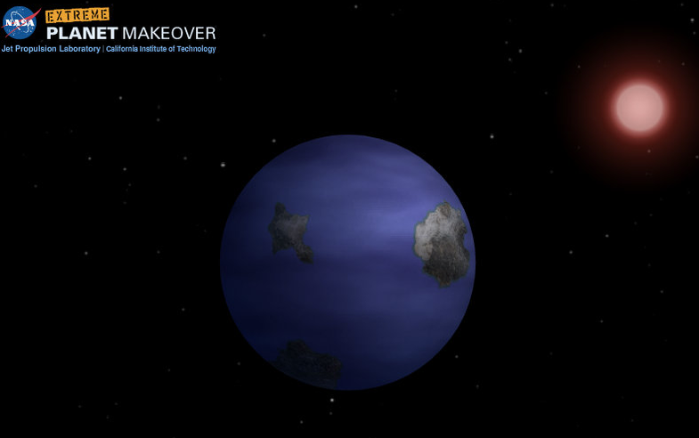 New NASA Game: Extreme Planet Makeover, Gliese 581d Edition