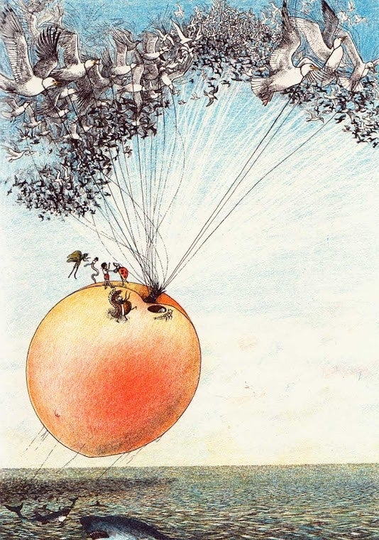 Lifting James' Giant Peach Would Have Required Way More Seagulls Than Roald Dahl Said