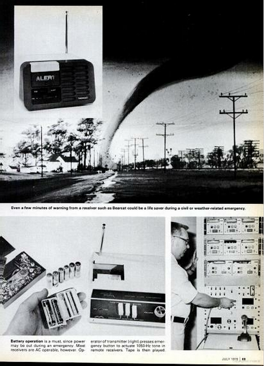 Extreme Weather Alerts on the Radio, July 1979