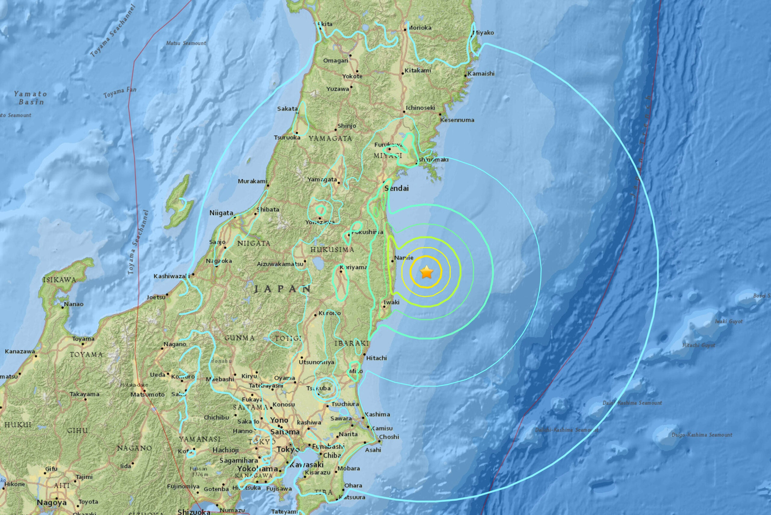 A tsunami near Fukushima rattled Japan, but damage is minimal