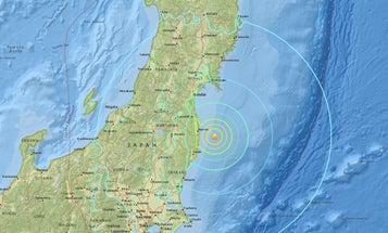A tsunami near Fukushima rattled Japan, but damage is minimal