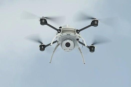Aeryon Scout drone in flight