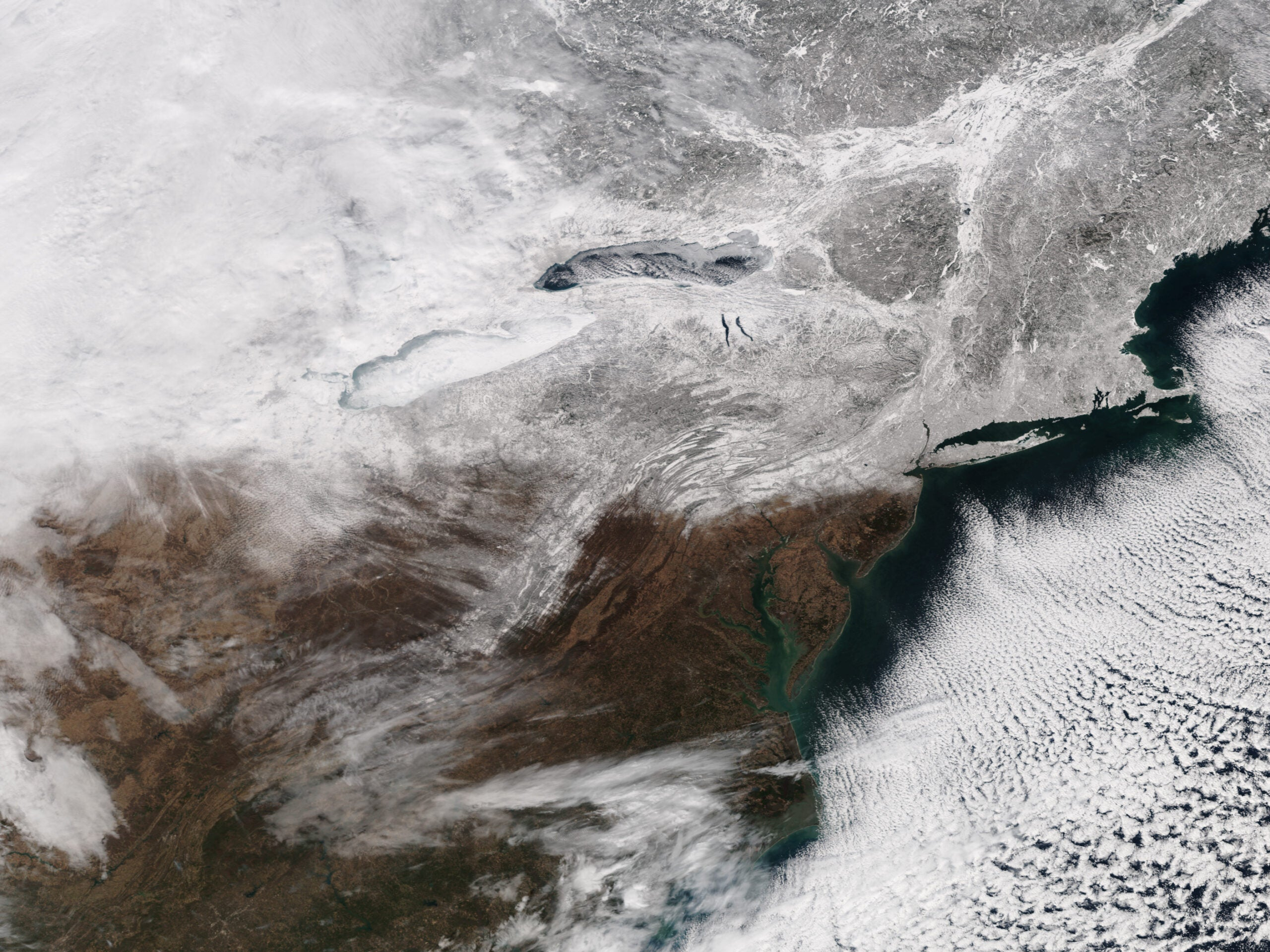 Watch The Northeastern U.S. Get Buried In Snow–From Space