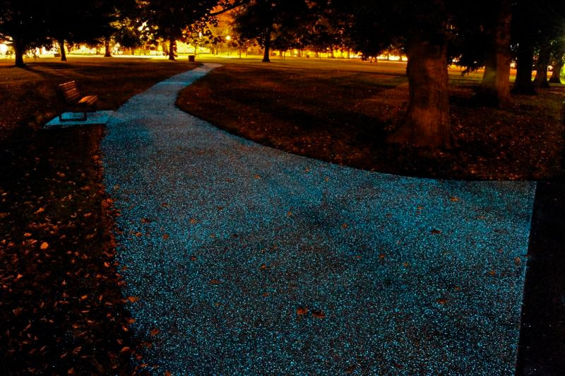 Glow-In-The-Dark Paths Could Be The Future Of Street Lighting