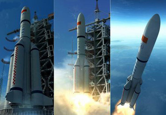 China's Long March 5 Space Rocket Stretches Its Legs