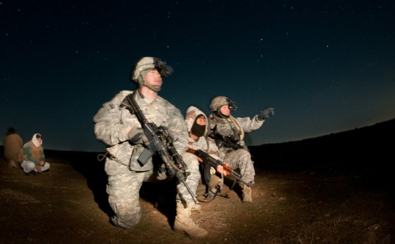 Haptic Vibrating Belts Guide U.S. Soldiers Through the Darkness