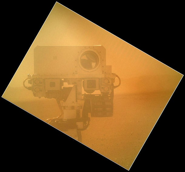 Mars Rover Curiosity Snaps a Self Portrait, Records Some Lolz on the Red Planet