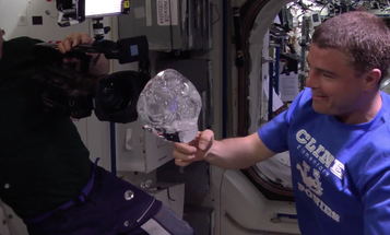 ISS Astronauts Encase GoPro In Orb Of Floating Water