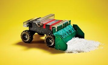 Build a mini remote-controlled snowplow