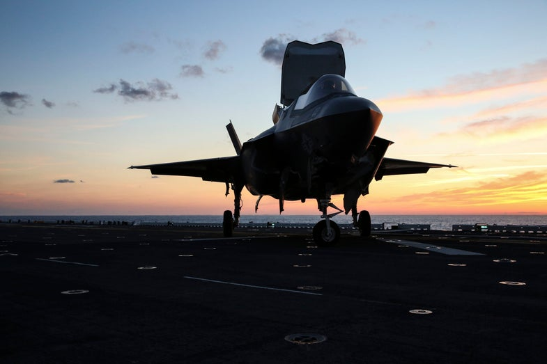 F-35B On The Deck Of The *USS Wasp* During Testing