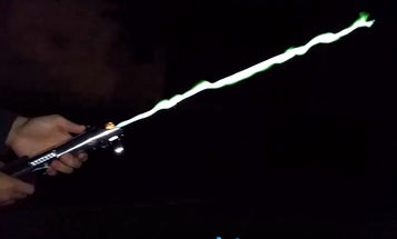 Watch This Homemade, Gas-Powered Lightsaber Destroy Things