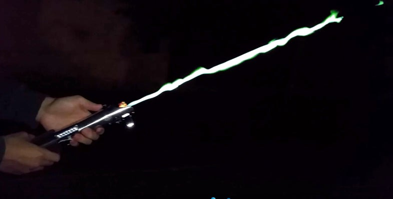 Flaming Lightsaber DIY video screenshot