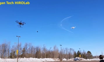Drone Catcher Drone Fires Nets At Lesser Drones