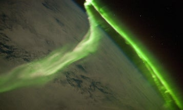 ISS Crew Captures Beautiful Image of Green Aurora Over the Indian Ocean