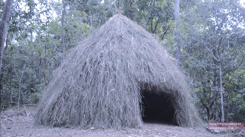 Watch This Guy Build A Grass Hut In A Week