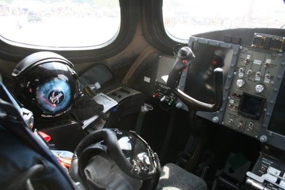 First Photos Inside Virgin Galactic's Mothership Cockpit