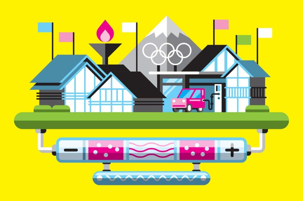 Illustration of Olympic village