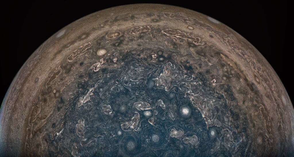 View of Jupiter's south pole