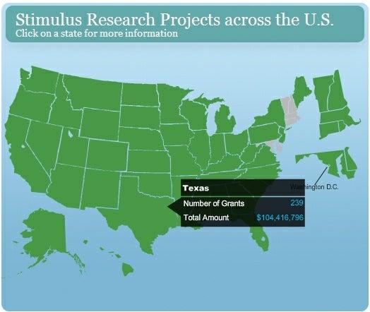 New Website Tracks $21 Billion in Stimulus Dollars for Science