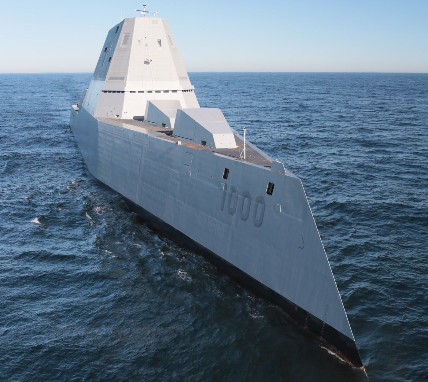 Watch The USS Zumwalt's First Tests At Sea