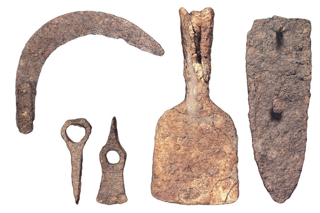 Ancient agricultural tools.