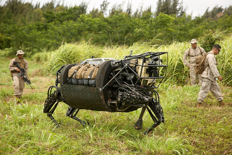 LS3 Robot At RIMPAC Exercises
