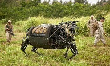Marines' Robot Mule Is Too Loud For War