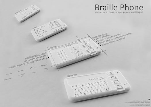 The First Elevated-Pin Braille Smartphone Gets A Prototype