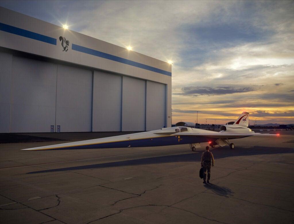 quesst nasa supersonic jet rendering