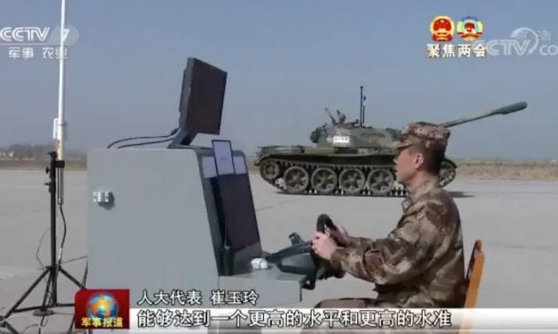 China is converting old Soviet tanks into autonomous vehicles