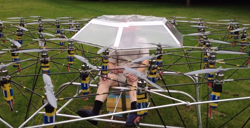 A British Man Built A Chariot Out Of Drones