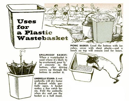 Plastic Wastebasket: July 1961