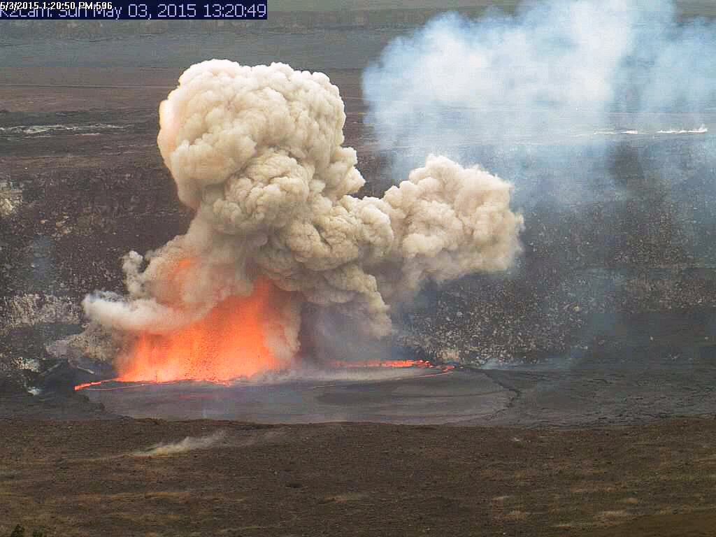 Crater Wall Collapsing Into Lava Lake Creates A Beautiful Explosion [Gallery]