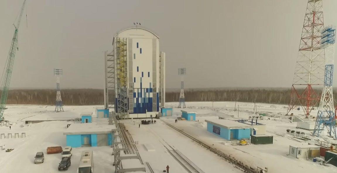 Drone Films Russia's New Cosmodrome