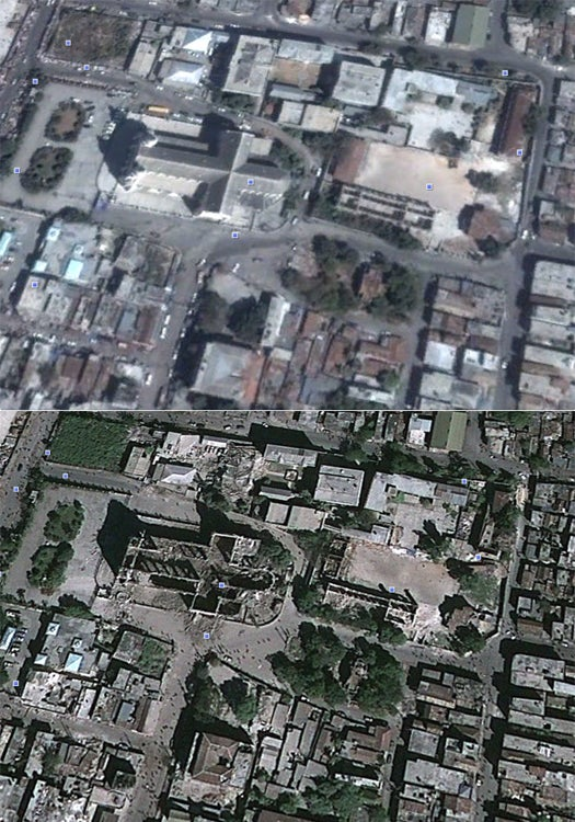 Before and After Satellite Imagery of Earthquake-Ravaged Haiti Available on Google Earth
