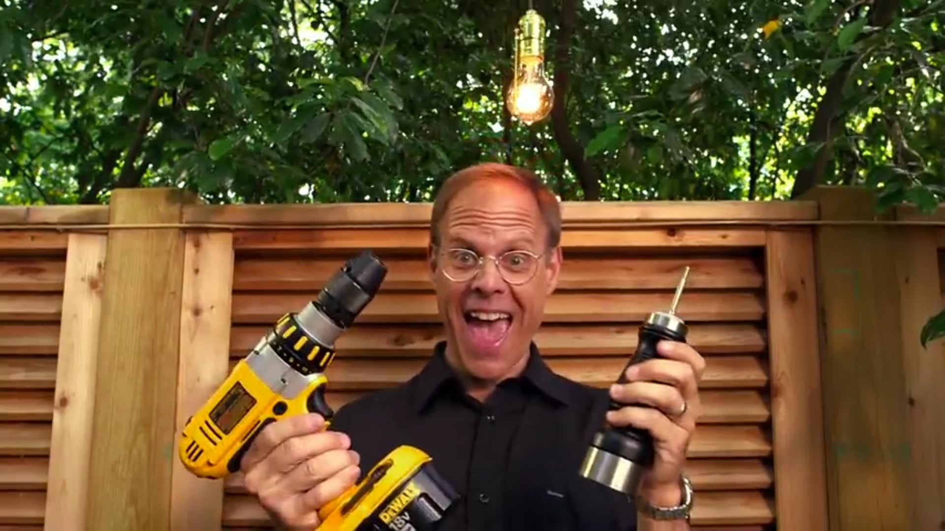 Alton Brown Seasons Steak With A Power Drill