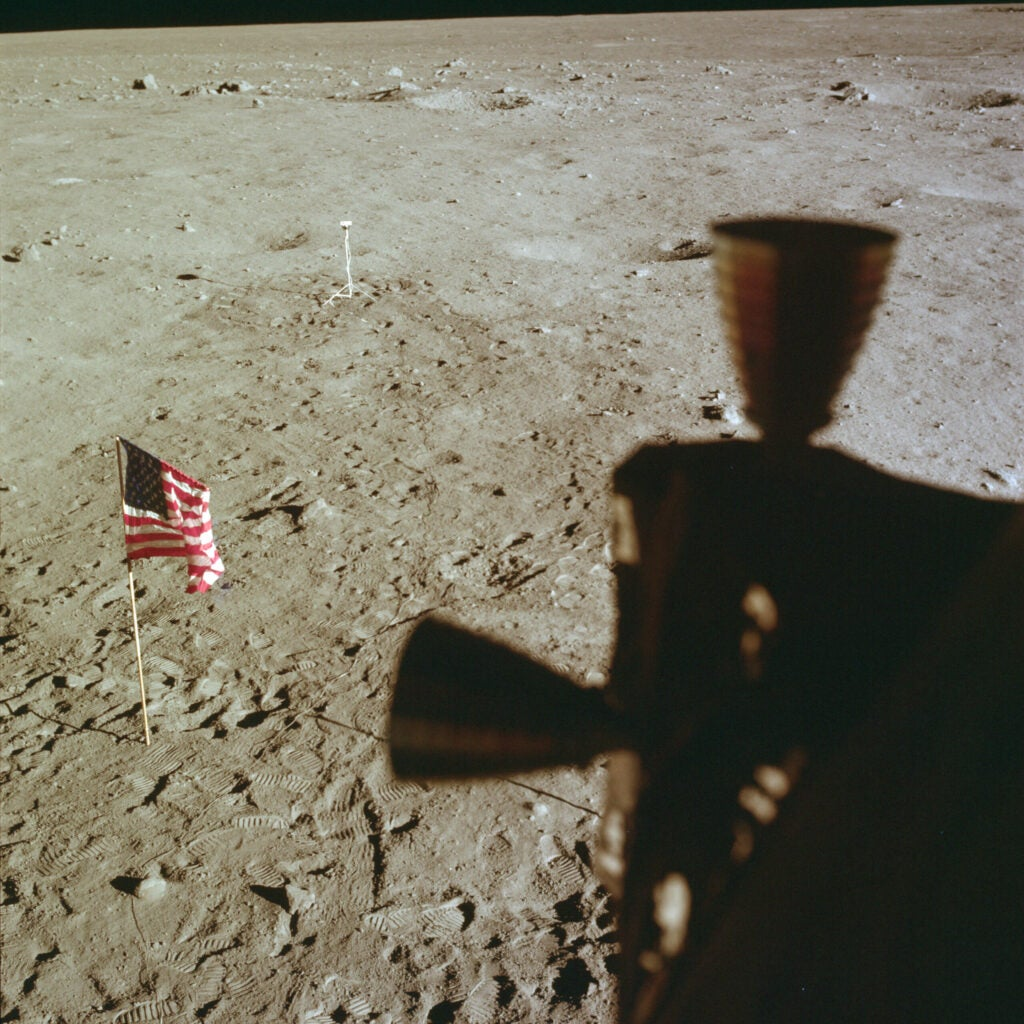 Apollo 11's flag on the surface