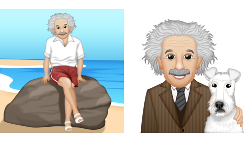 Einstein on the beach and with Chico