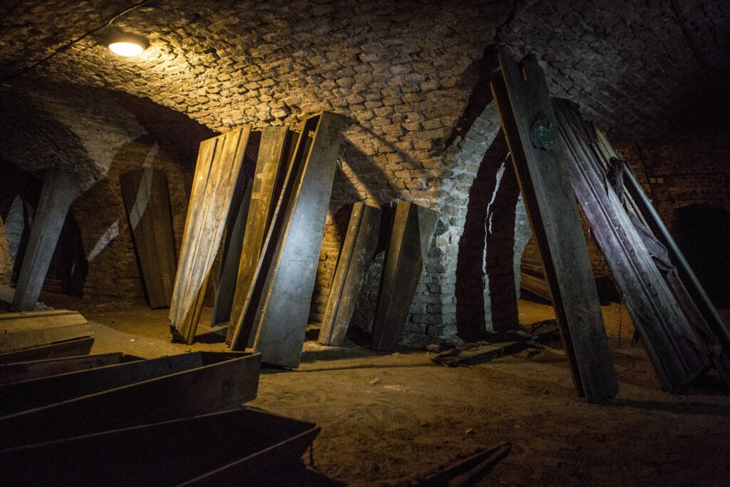 Crypt where the Lithuanian mummy was found