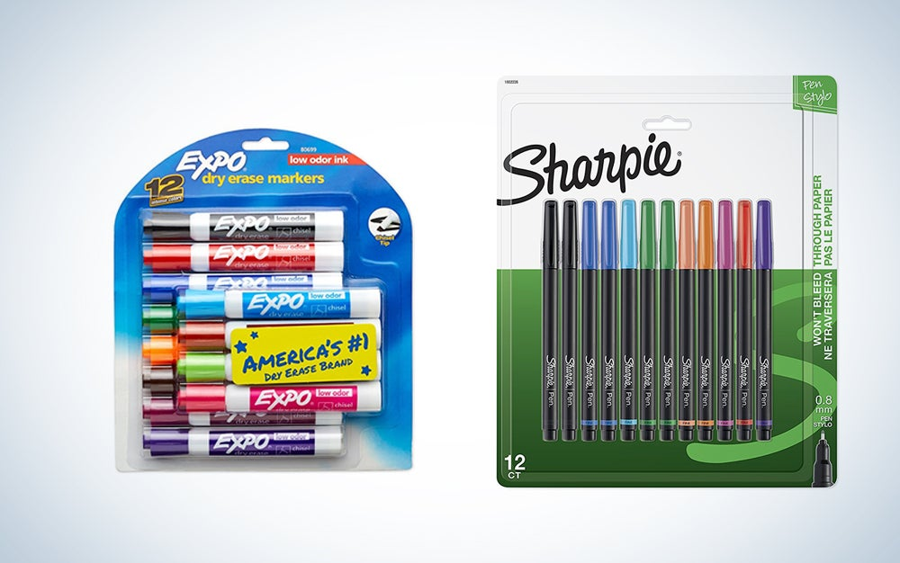 Expo and Sharpie office supplies