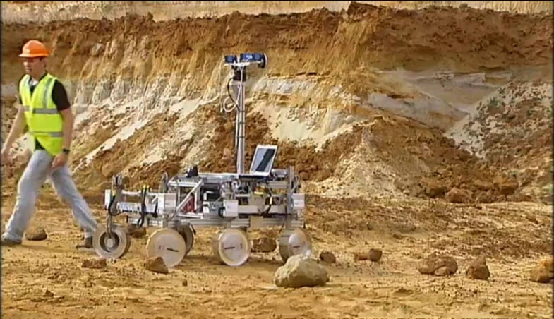 Video: ExoMars Rover Goes for a Test Drive