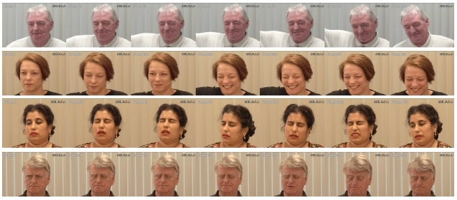 Faces in pain.