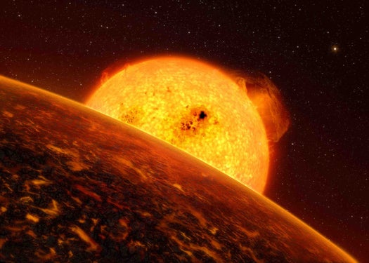 Recently Discovered Exoplanet Evidently Has Rains of Pebbles