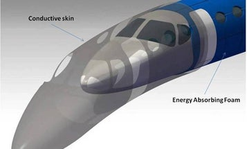 NASA Wants Airliners Wrapped in Self-Healing, Lightning-Proof, Interference-Repelling 'Magic Skin'