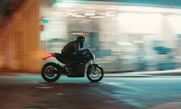 Riding Zero's SR electric motorcycle