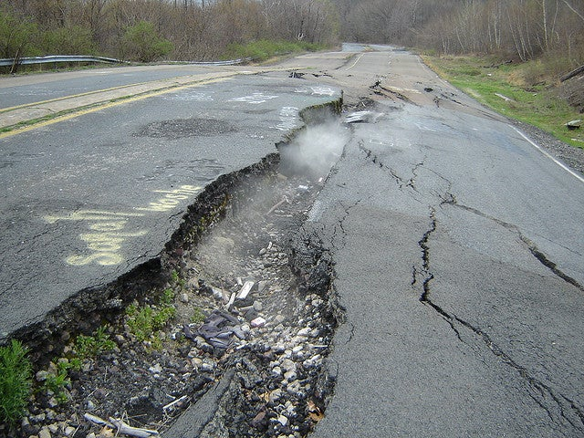 cracked portion of route 61