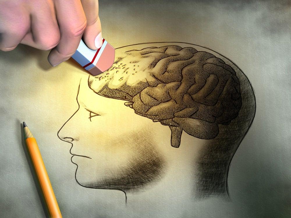 brain erase illustration