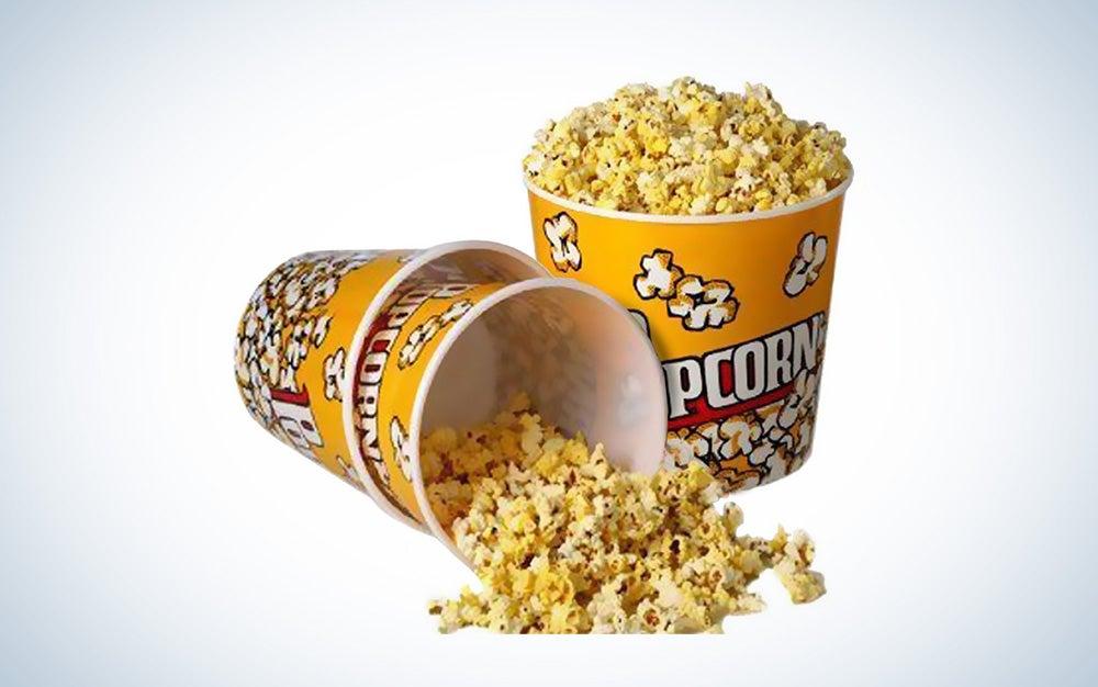 Reusable plastic popcorn buckets
