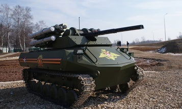 Russia's New Combat Robot Is A Tiny Fireproof Tank